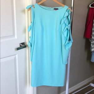 Vince Camuto Tie Bell Sleeve Crepe Ponte Dress